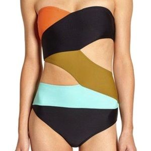 Volcom simply solid cutout one piece